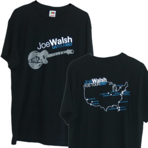 Joe Walsh 2007 Tour Mens Black Shirt