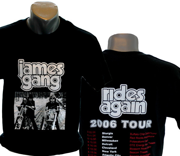 James Gang 2006 Tour Shirt